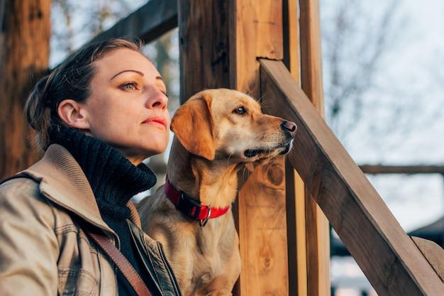 Vrouw en haar hond