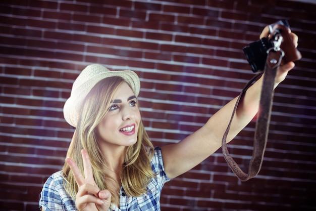 Vrouw fotograferen