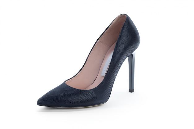 Vrouw hoge hakken schoenen geïsoleerd