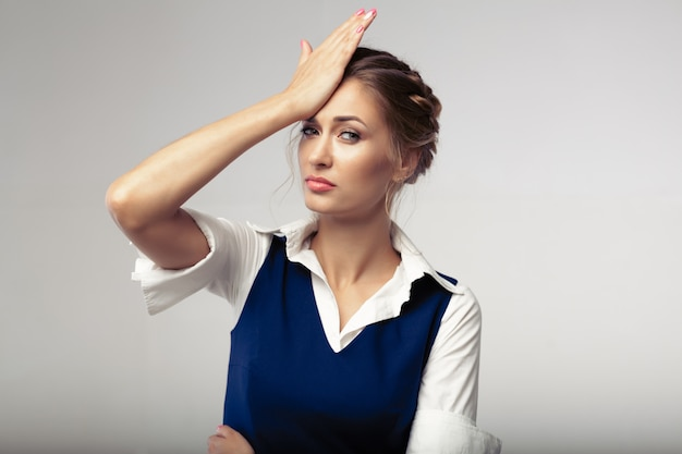 Vrouw hoofdpijn mislukt om zaken te verstoren