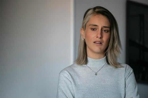 Vrouw huilen na een ruzie met haar man