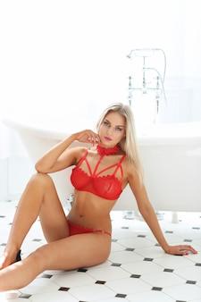 Vrouw in lingerie