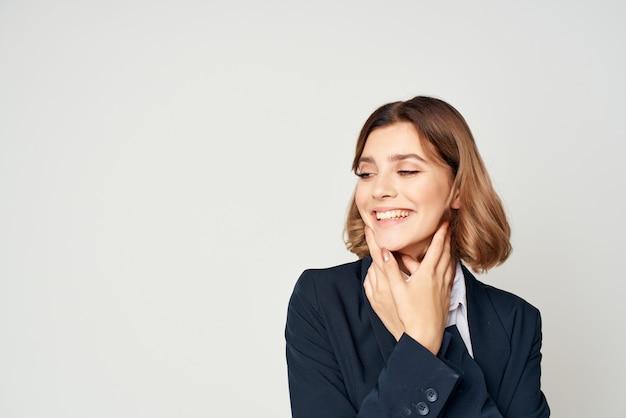 Vrouw in pak uitvoerend zakenvrouw manager werk