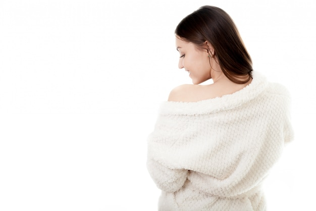Vrouw in robe