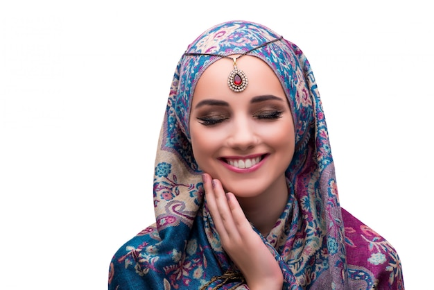 Vrouw in traditionele moslimkleding