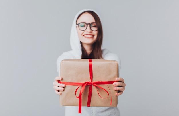 Vrouw kerst portret