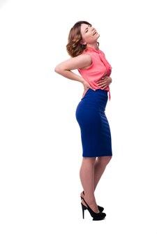 Vrouw met buikpijn