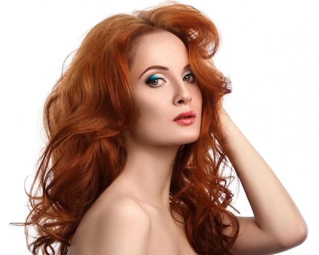 Vrouw met mooi rood haar