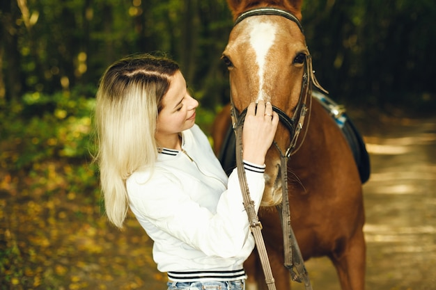 Vrouw met paarden