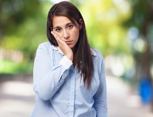 Vrouw met tandpijn