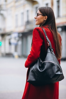 Vrouw met tas
