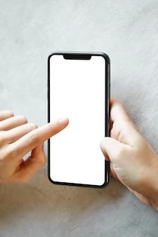 Vrouw met telefoon close-up