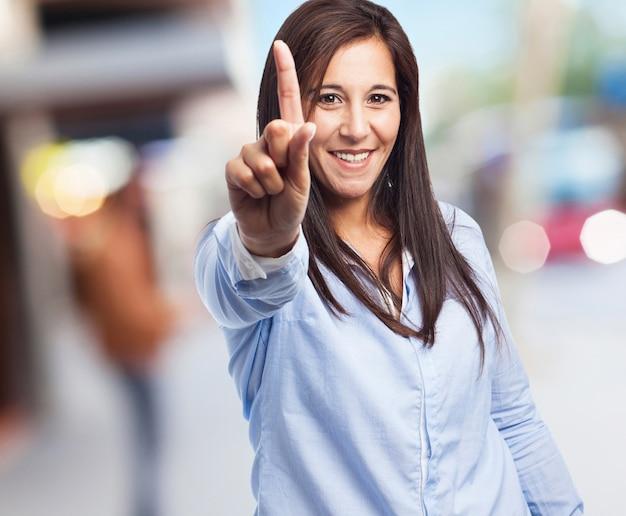Vrouw nummer één teken