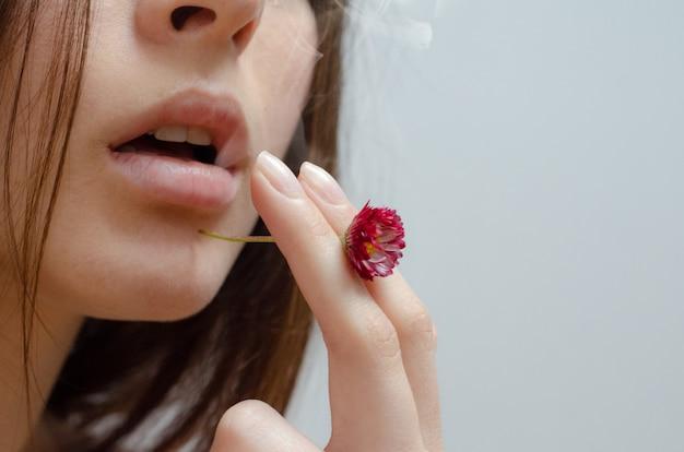 Vrouw roken schoonheid slechte gewoonten