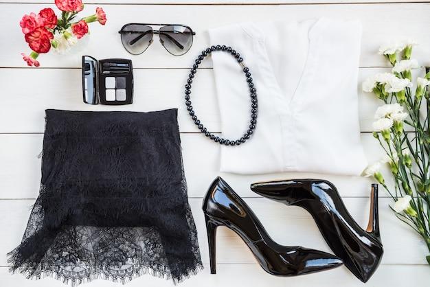 Vrouw trendy mode-accessoires