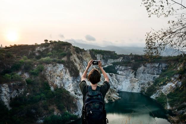 Vrouw vakantie reis reizen ontspanning