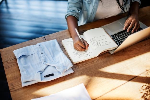 Vrouw van plan over het starten van een bedrijf