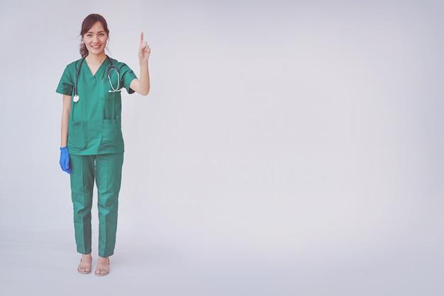 Vrouw verpleegster of arts professionele status