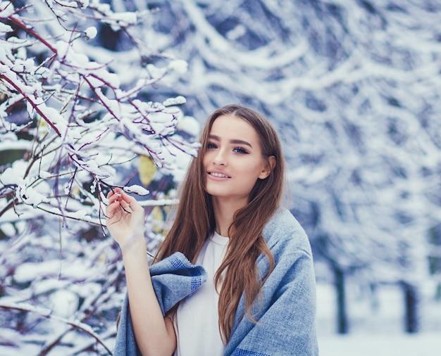Vrouw winter portret