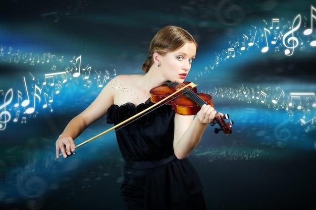 Vrouwelijk geluid creativiteit levensstijl concert