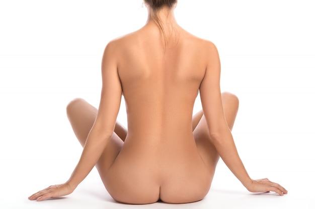 Vrouwelijke billen en rug