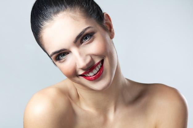Vrouwelijke gezicht mooie schone frisse