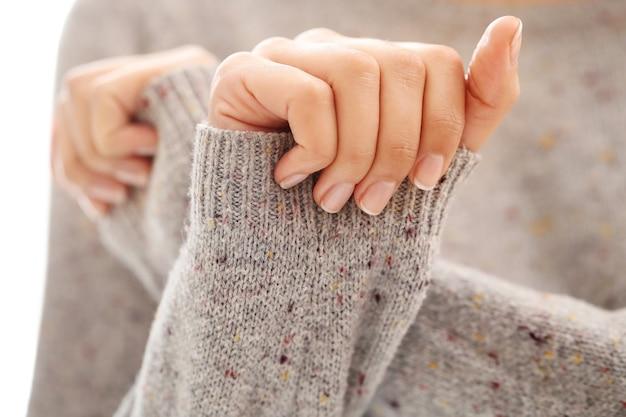 Vrouwelijke handen. manicure concept