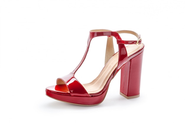 Vrouwelijke hoge hakken sandalen geïsoleerd