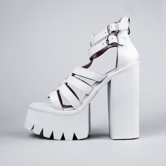 Vrouwelijke schoenen in mode concept