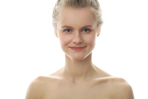 Vrouwelijke schoonheid in close-up