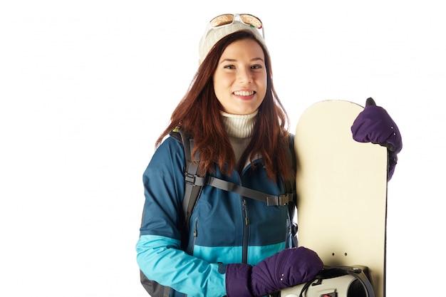 Vrouwelijke snowboarder