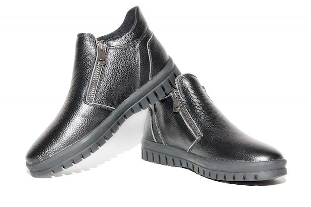 Vrouwelijke winter lederen schoenen