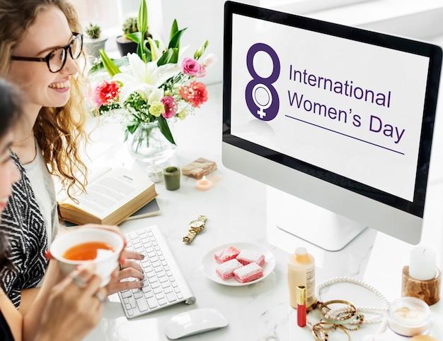 Vrouwen internationale dag viering concept