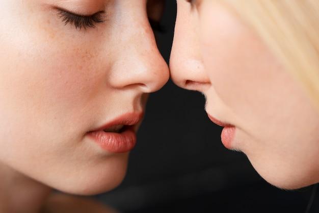 Vrouwen romantisch koppel close-up