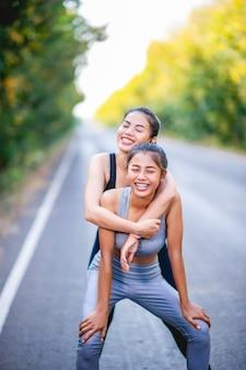Vrouwen trainen graag voor een goede gezondheid