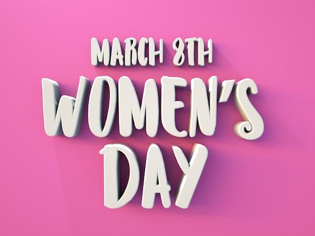 Vrouwendag 3d-tekst