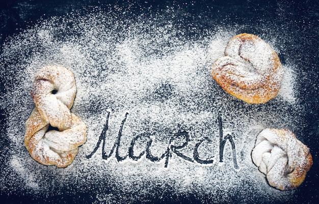 Vrouwendag, zelfgemaakte broodjes