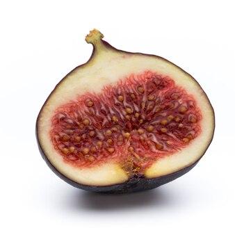 Vruchten vijgen geïsoleerd op een witte achtergrond