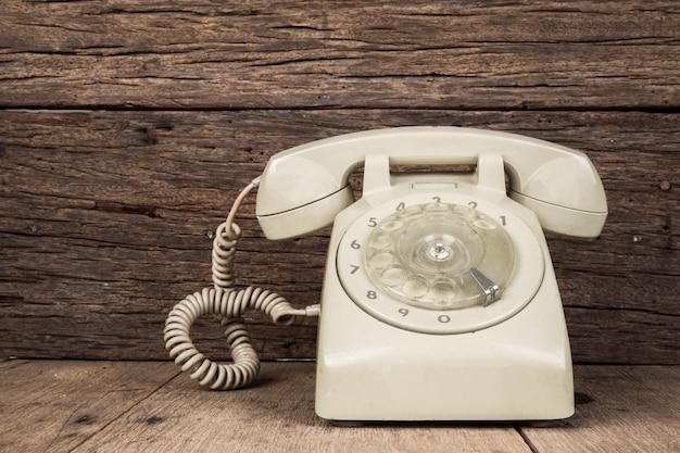 Vuile vintage telefoon