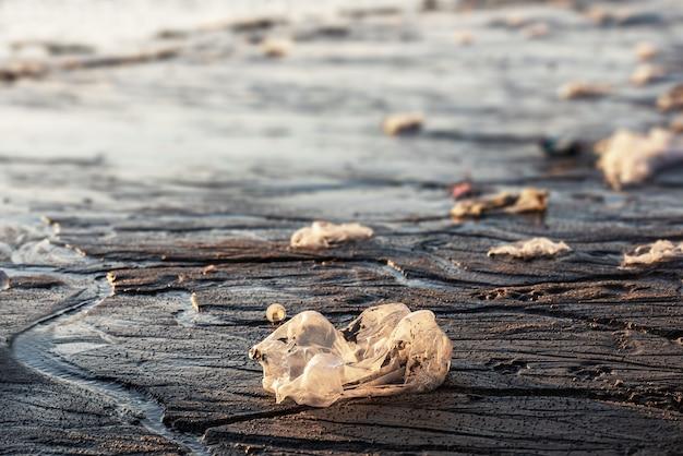 Vuilnis op het strand