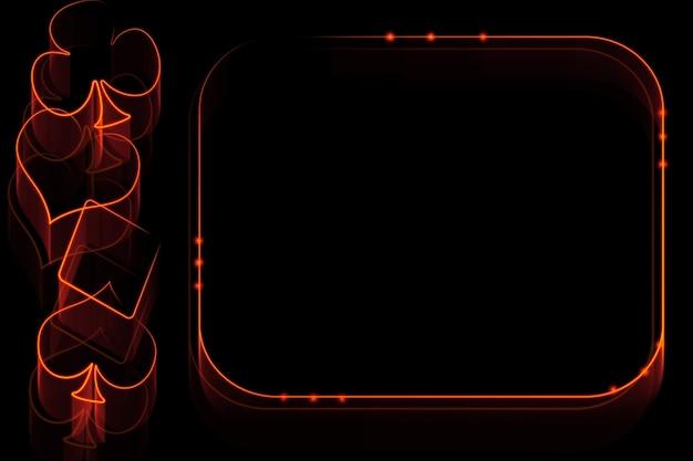 Vurige casinoillustratie met blok voor tekst