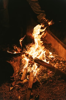 Vuur branden, voelt warmer worden van koud weer.