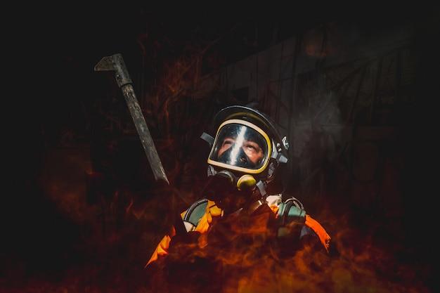 Vuur- en reddingstraining school om zich voor te bereiden