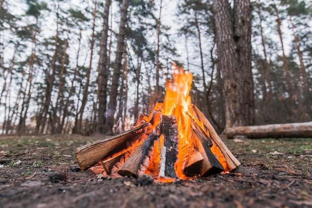 Vuur met lage hoek