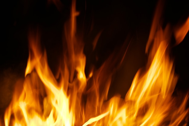 Vuur op zwart