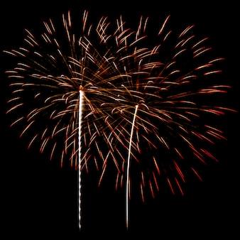 Vuurwerk op een nachtelijke hemel