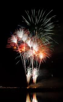 Vuurwerk 's nachts