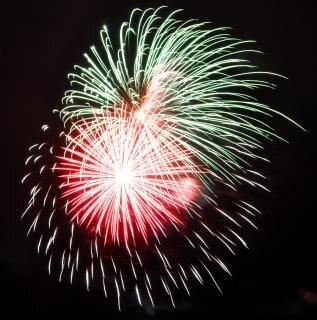 Vuurwerk, vakantie, feest