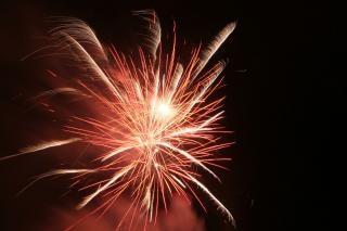 Vuurwerk, vieren, blast