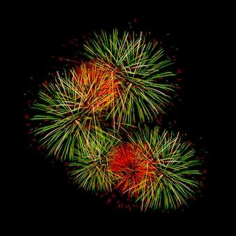 Vuurwerk voor het gelukkige nieuwe jaar
